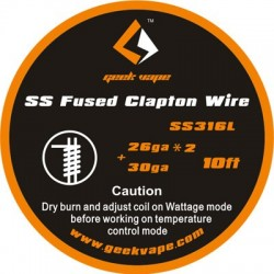 Fused Clapton SS316 26ga*2+30ga 3m - Geek Vape