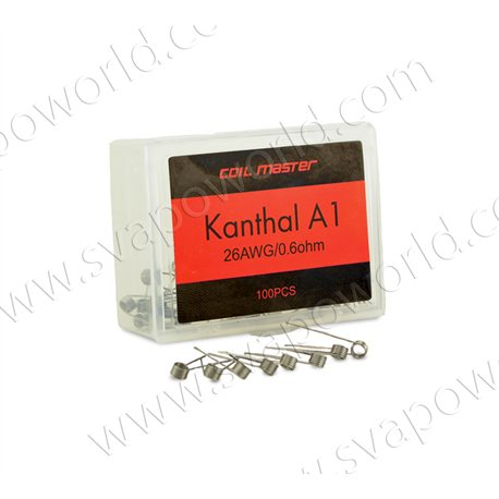100 x coil Kanthal A1 26ga 0.6ohm - Coil Master